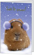 Exclusive Let It Snow Guinea Pig Christmas Card