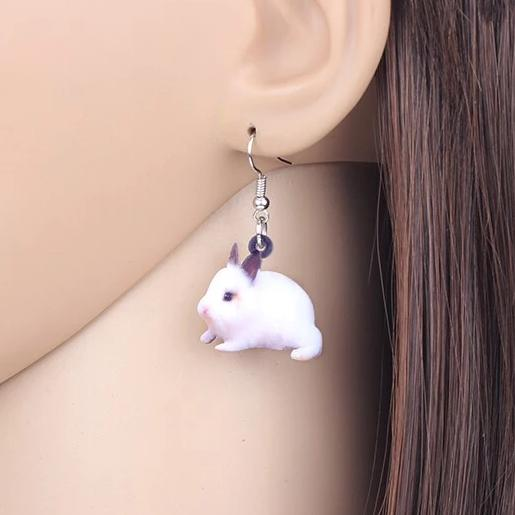 Lionhead Bunny Acrylic Bunny Rabbit Earrings