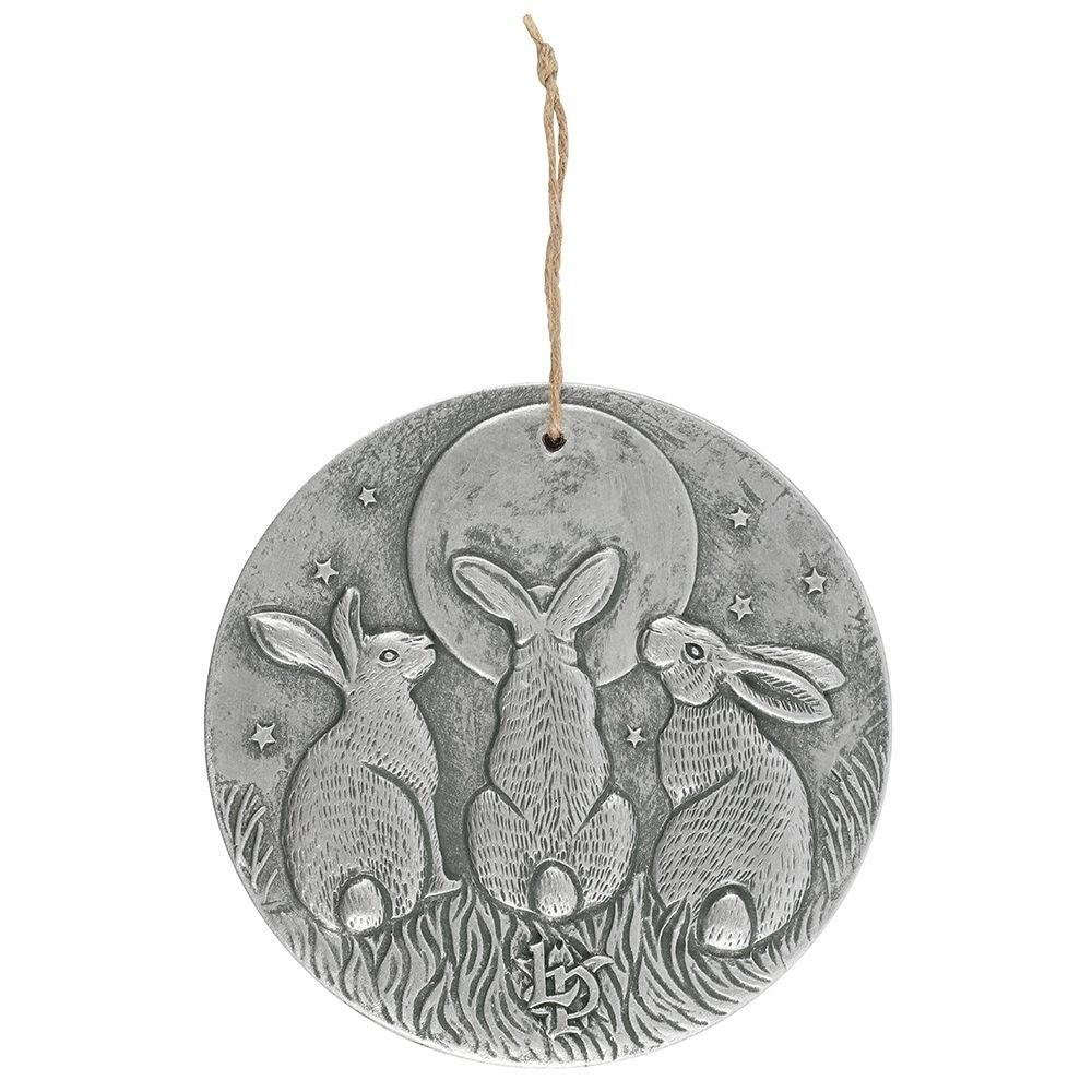 Lisa Parker Moon Shadow Silver Hare Plaque