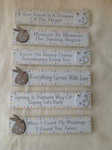 Little Bunny Rabbit Inspirational Word Plaques