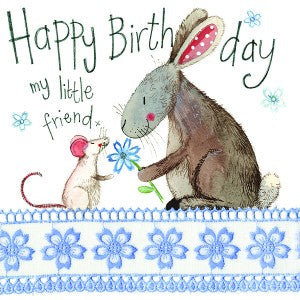 Alex Clark Little Friend Sparkle Rabbit Card