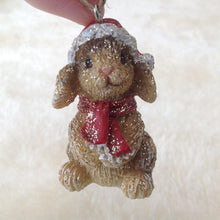 Lop Glitter Bunny Rabbit Christmas Tree Decoration