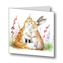 Love Country Fox & Hare Best Friends Greetings Card With Beautiful Poem
