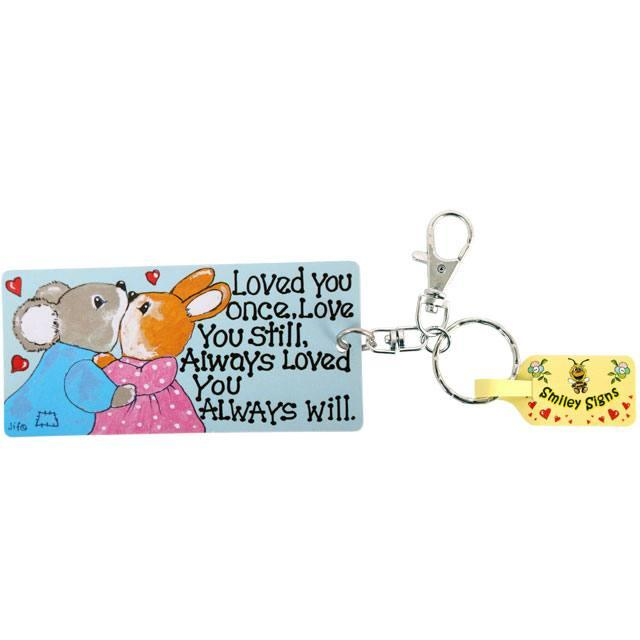 Love You Still Bunny Rabbit Keyring