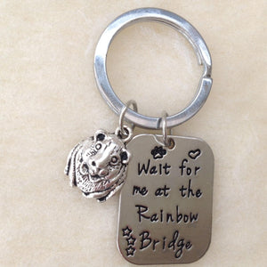 Wait For Me At Rainbow Bridge Memorial Guinea Pig Keyring