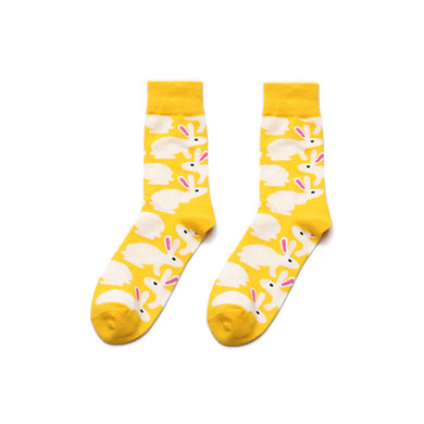 Men's Yellow Bunny Rabbit Socks