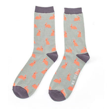 Men's Luxury Bamboo Grey Rabbits Socks- SPECIAL OFFER