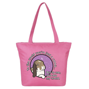 Milly Moo Bunny Rabbit Large Shopping Bag - 2 Colours