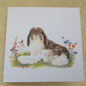 Milly Moo Bunny Rabbit Greeting Card