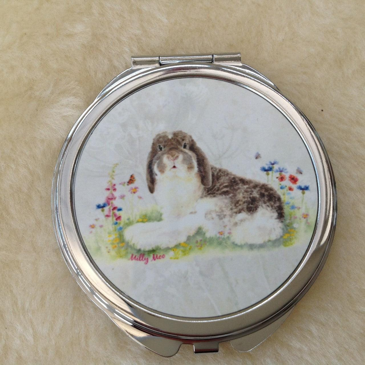 Milly Moo Bunny Rabbit Mirror Compact