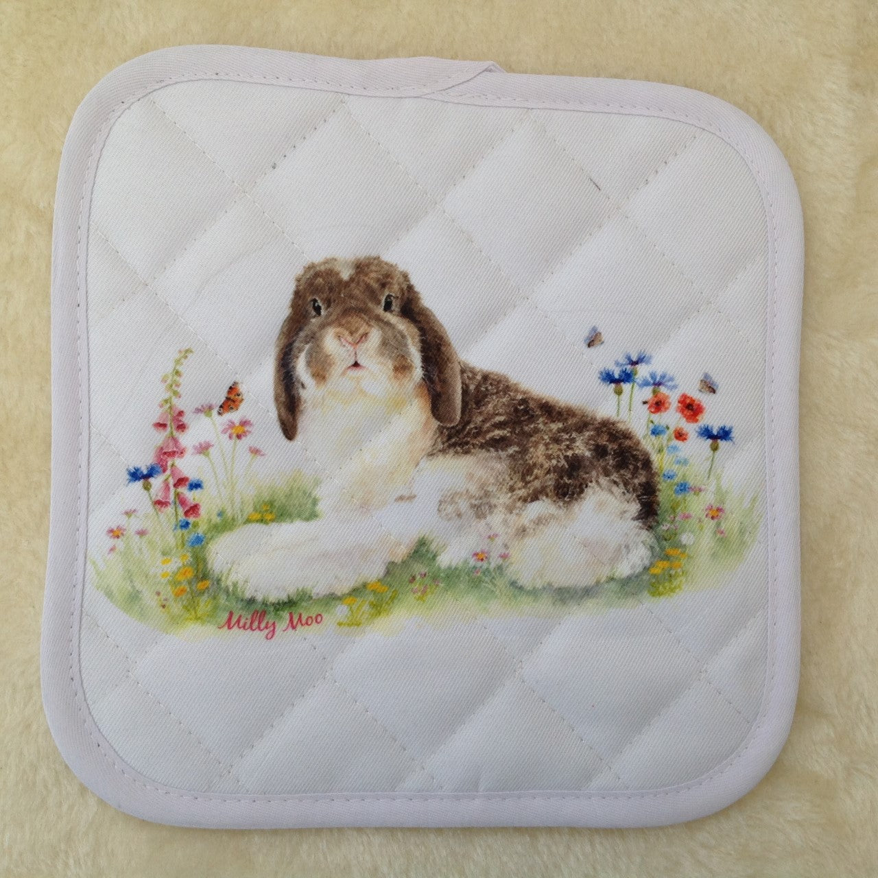Milly Moo Bunny Pot Stand/Oven Mitt