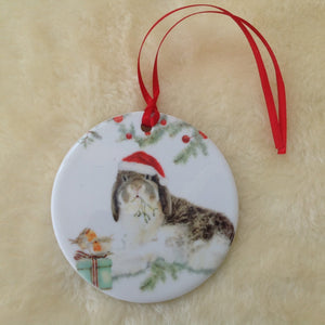 Milly Moo Bunny Rabbit Christmas Tree Decoration
