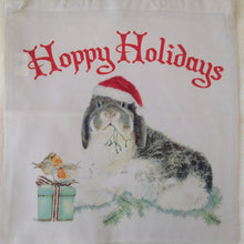 Milly Moo Hoppy Holidays Christmas Bunny Rabbit Tote Bag