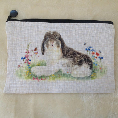 Milly Moo Bunny Rabbit Canvas Toiletry Bag