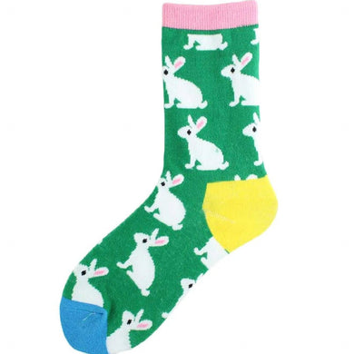 Multicolour Ladies Bunny Rabbit Socks
