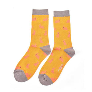 Luxury Bamboo Mustard Bunny Rabbits Socks