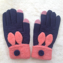Ladies Winter Bunny Ears Rabbit Gloves