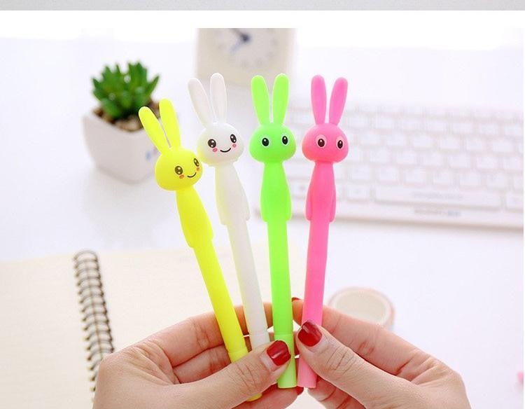 Neon Bunny Gel Ink Pens - Set Of Four