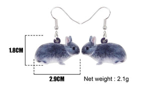 Netherland Dwarf Bunny Acrylic Bunny Rabbit Earrings