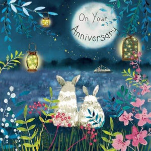 On Your Anniversary Bunny Rabbit Card