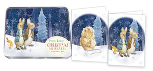 Peter Rabbit & Friends 8 Christmas Cards & Tin