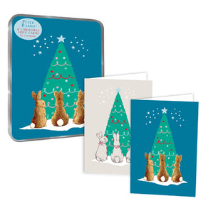 Peter Rabbit Christmas Tree 8 Cards & Tin