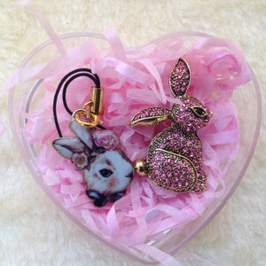 Limited Edition Bunny Brooch & Charm in Gift Box