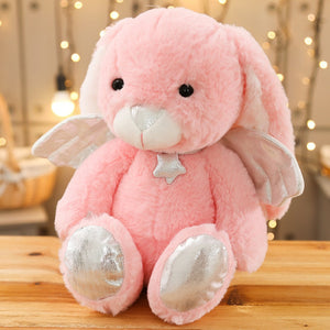 Memorial Plush Bunny With Angel Wings