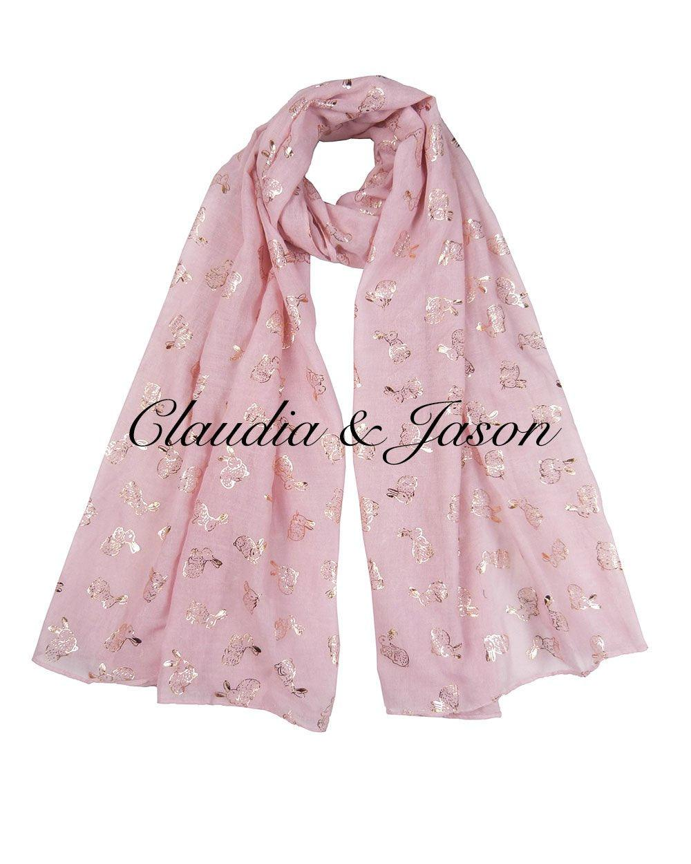 Exclusive Shimmer Rabbit Ladies Scarf - 10 Colours
