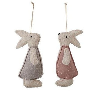 polka Dot Bunny Rabbit Hangers - set of 2