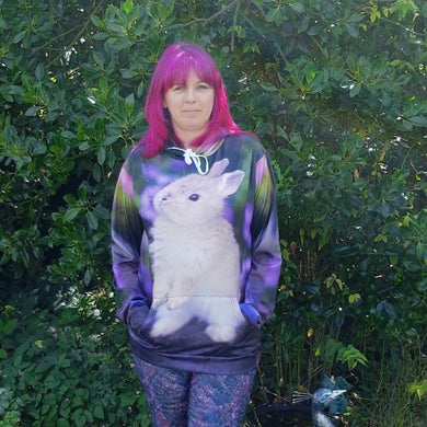 Purple Bunny Rabbit Lightweight Unisex Hoodie