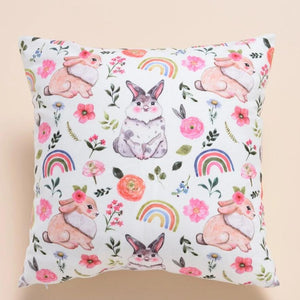 Soft touch Rainbow Bunny Rabbit Cushion Cover