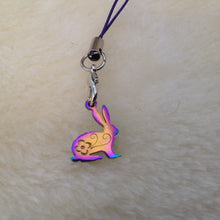 Rainbow Bunny Rabbit Charm