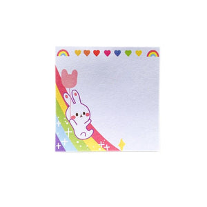 Rainbow Bunny Rabbit Sticky Note Pad