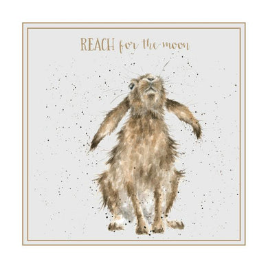 Wrendale Designs Reach For The Moon Hare Card