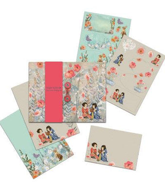 Roger La Borde Girls & Bunnies Writing set