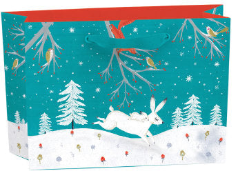 Roger La Borde Winter Bunnies Small Gift Bag