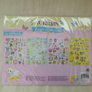 Cute Easter Bunny Rabbit Set of 4 Sticker Sheets