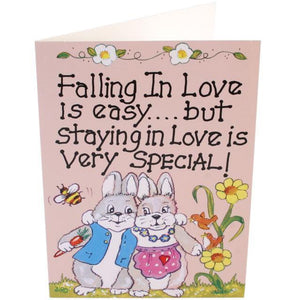 Falling In Love Is Easy Rabbit Card
