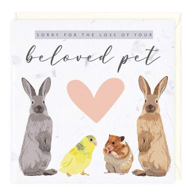 Sorry For the Loss of Your Beloved Pet Rabbit Card