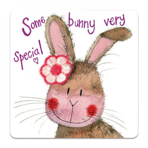 Alex Clark Bunny Rabbit Somebunny Special Coaster