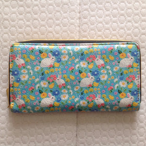Spring Bunny Rabbit Floral Purse or Phone Case - last one