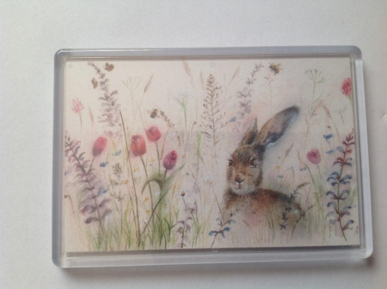 Spring Is Hare Fridge Magnet