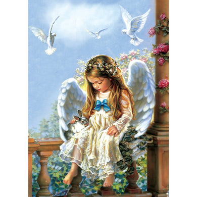 Tender Love Angel and Bunny Environmentally Friendly Luxury Card