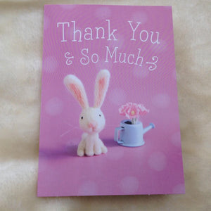 Cute Rabbit Thank You Card