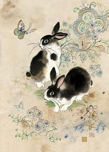 Bugart Two Rabbits Card