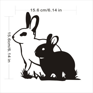 Two Rabbits Vinyl Decals for Car and Windows