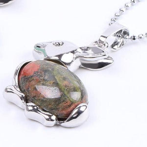 Gem Stone Bunny Necklace - 4 colours