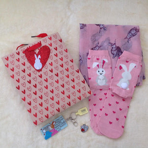 Limited Edition Valentine Bunny Bag of Bunderful Pink Gifts