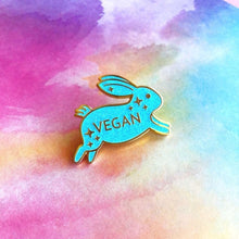 Vegan Bunny Rabbit Brooch/Pin/badge